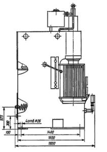 Пресс гидравлический П6328Б (П6328) усилием 63 тонны