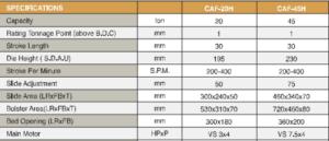 Высокоскоростной прецизионный силовой пресс CAF с С-образной рамой